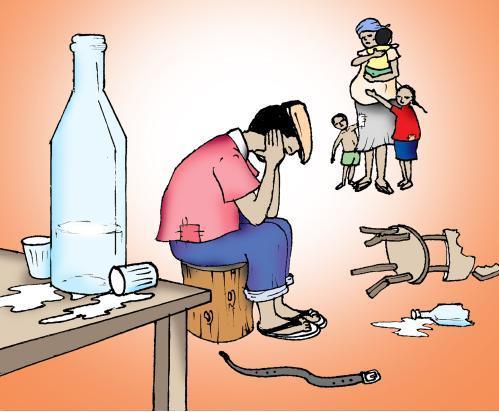 Decidido para deixar o marido que bebe